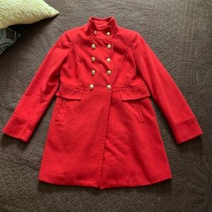 The Limited Red Pea Coat